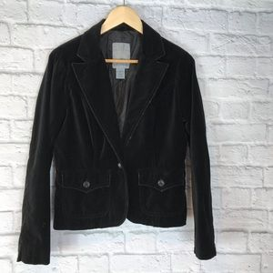 BB Dakota Velvet Distressed Black Jacket